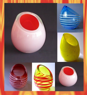 oval vase collection, Vase, Modern Vase, Glass Handicraft, Handicraft Design