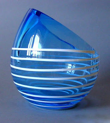 Unique oval glass vase, Unique, Modern Vase, Vase, Handicraft Design, Glass Handicraft, Collection
