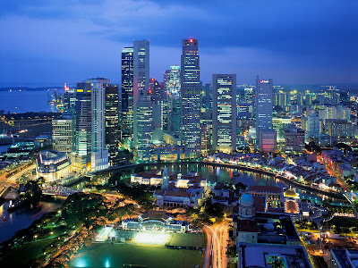 Night Lights wallpaper cityscape, Singapore,Chicago | Desktop Wallpaper