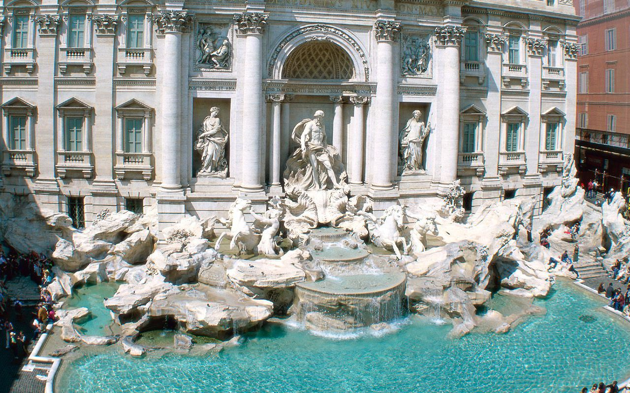Download Wallpaper 640x1136 Trevi Fountain Rome Italy