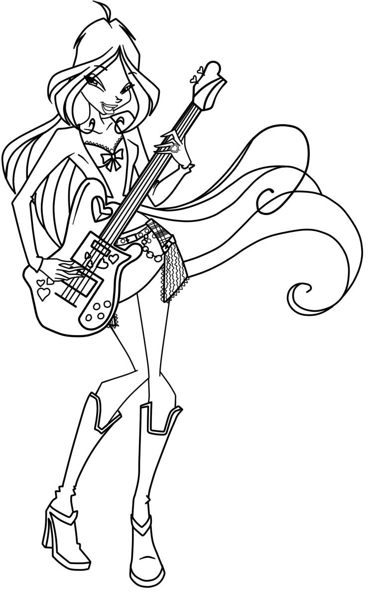 Enchanted Magical Winx Winx Colouring Pages