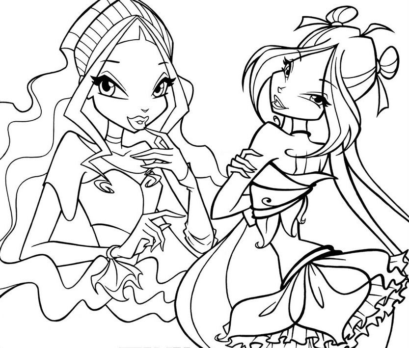 Winx Club Coloring Pages Free Printable Pictures Winx Colouring Pages