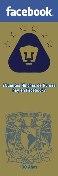 ¿Cuantos hinchas de Pumas hay en Facebook?