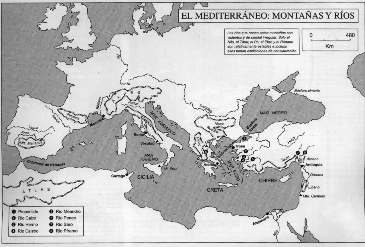 historiaterceroiem2011: Mapa del mediterraneo Antiguo
