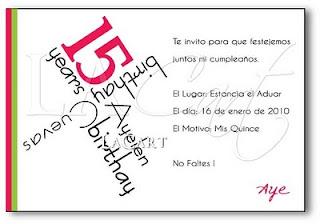 invitacion de 15