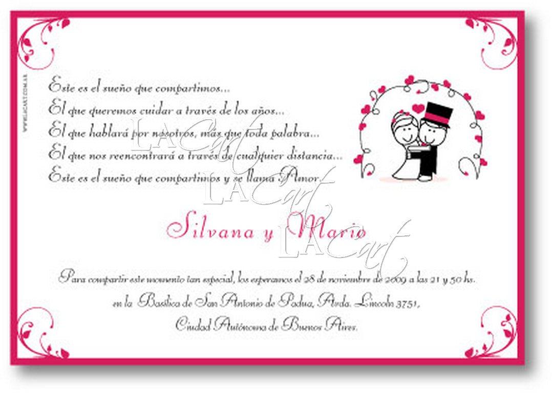 Tarjetas de aniversario de bodas y de matrimonio para - Tarjeta de boda ...