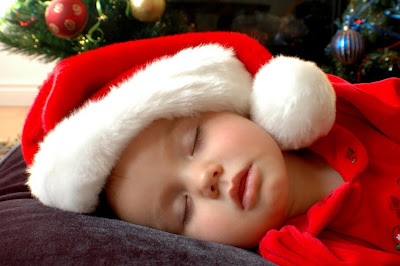 Cute Christmas Baby Sleeping