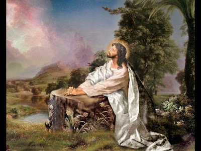 christian wallpaper jesus. Jesus Praying Wallpaper
