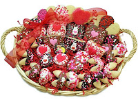 valentine gourmet cookie basket