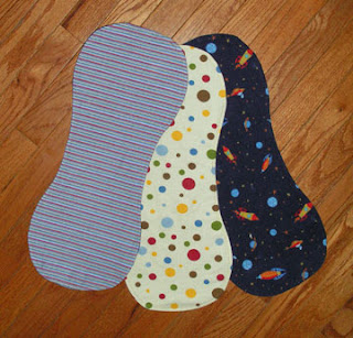 Baby burp cloths with loops for toys or binkies | Free clever