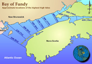 Bay of Fundy Blog Nifty Bay of Fundy tide height map