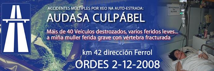 """AUTOESTRADA AP- 9 : Accidentes nas """"Autopistas del Atlántico AP9"""" / Autopistas de Galicia"""