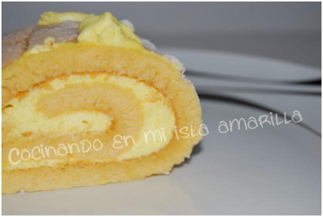 Bracito relleno de mousse de queso y limoncello