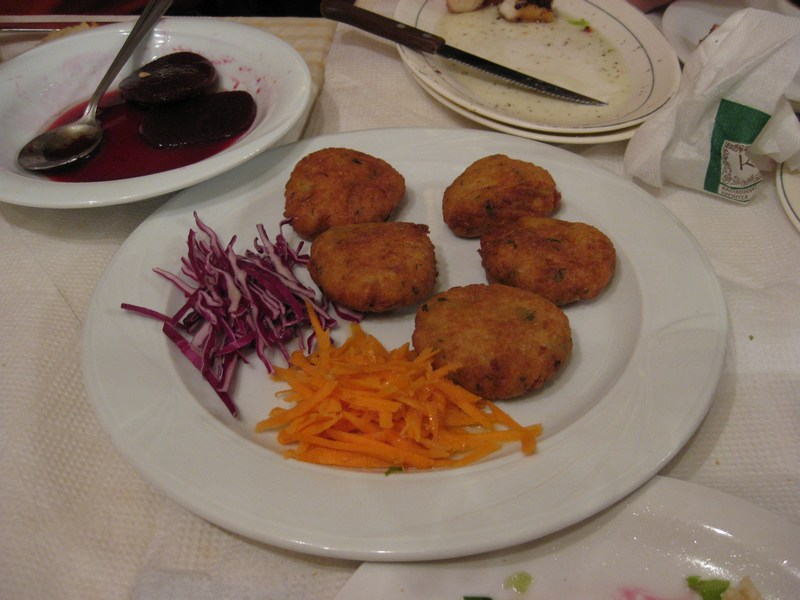 Thoughts in a fasting food for Fish ball with roe