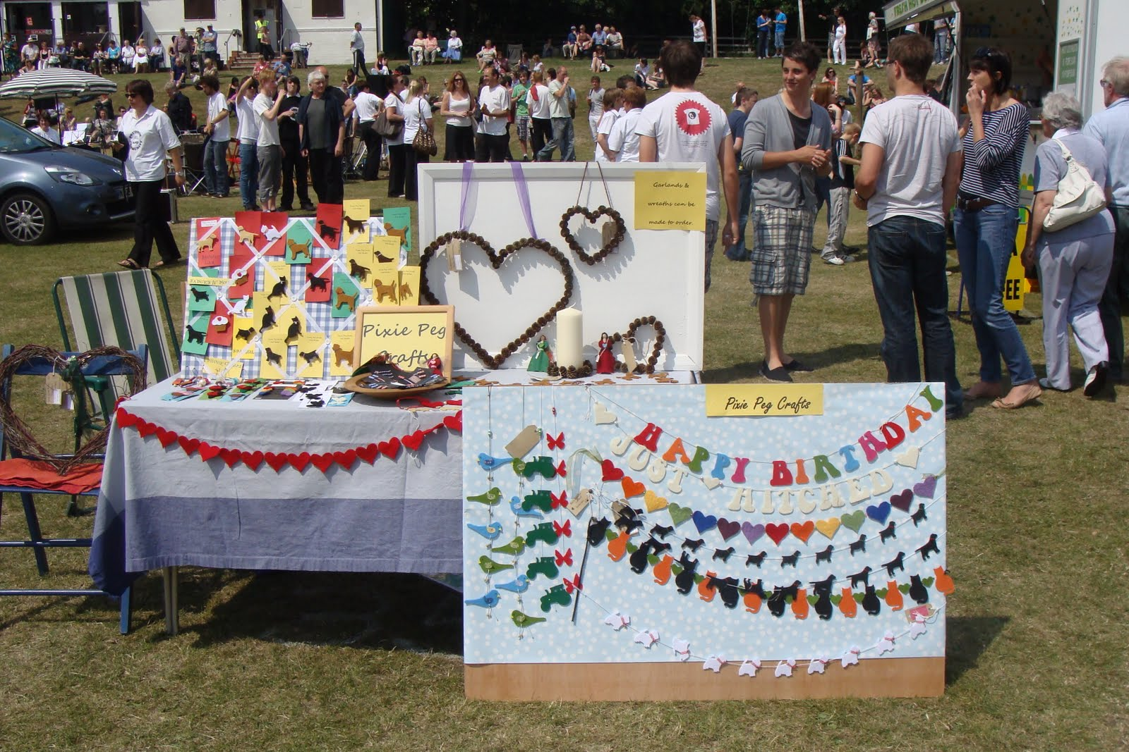 This weekend has been a bit hectic i had a stall at wylam summer fair