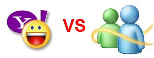 Yahoo Messenger VS Windows Messenger