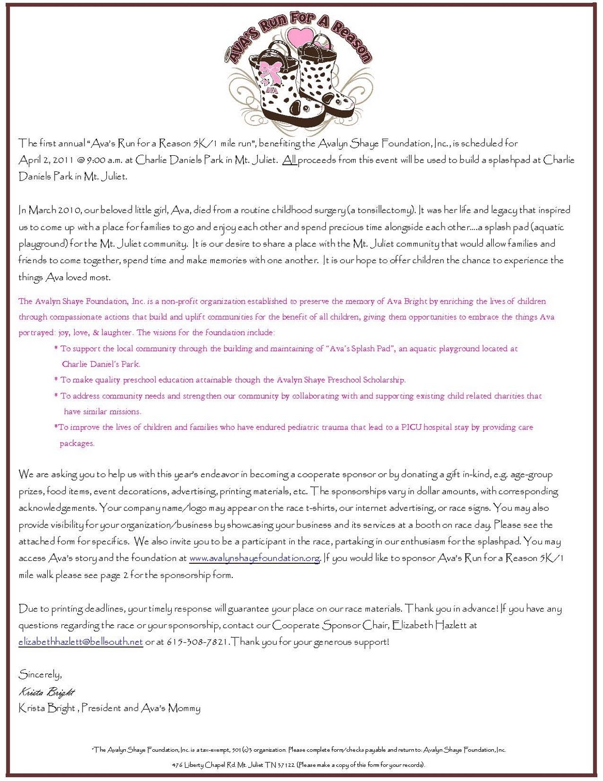 Sponsorship Thank You Letter Example Free Sample Thank You Letter – Example of Sponsorship Letter