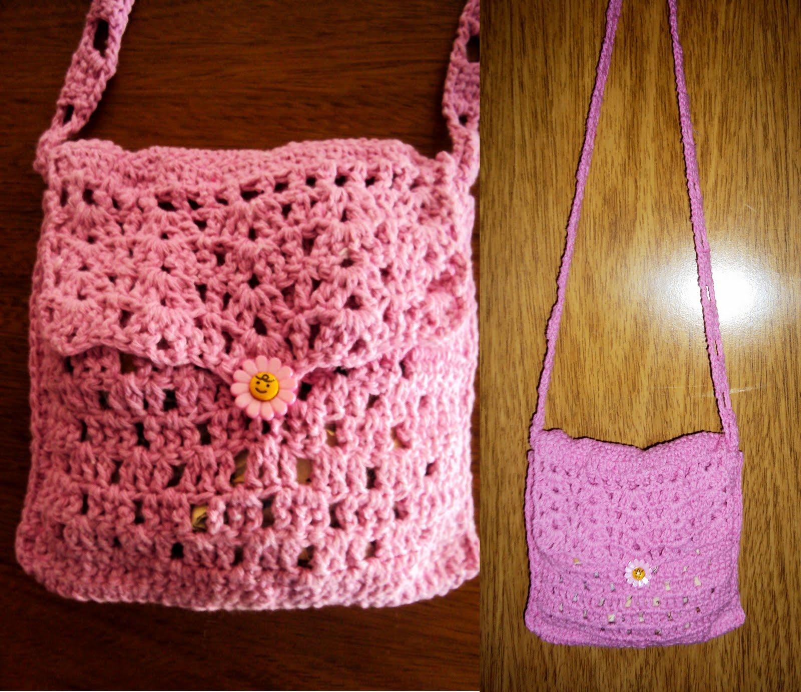 Bolsa De Festa Em Croche Passo A Passo : Marisa croch? conjunto infantil chap?u e bolsa