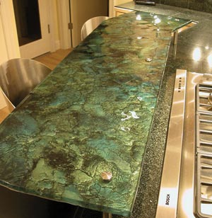 Countertop Price Comparison Recycled Glass : ... Spaces: For the Kitchen: Glass Countertops and Glass Backsplashes