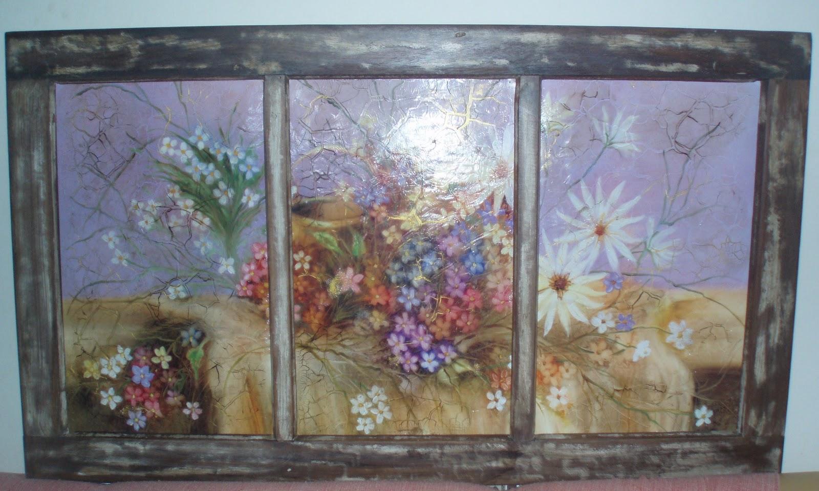 #77664A  Arte em espelhos vidros e demolição: JANELA DE DEMOLIÇÃO 1576 Vidros Em Janelas De Madeira