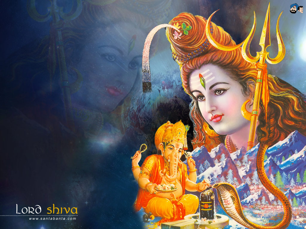 lord shiva with ganesha hindu god amp goddess wallpapers