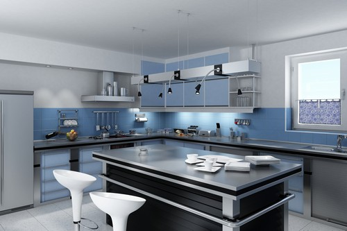 Point in Line: Modern Designer Kitchen