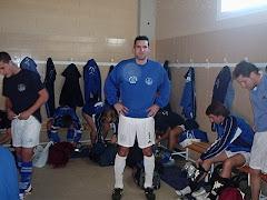 Juanka antes de un partido