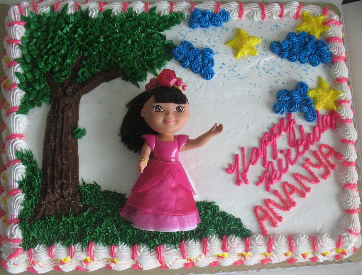Dora Princess Cake