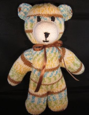 Knitting and Sewing My Way Through Life: Knit Teddy Bear using Sock