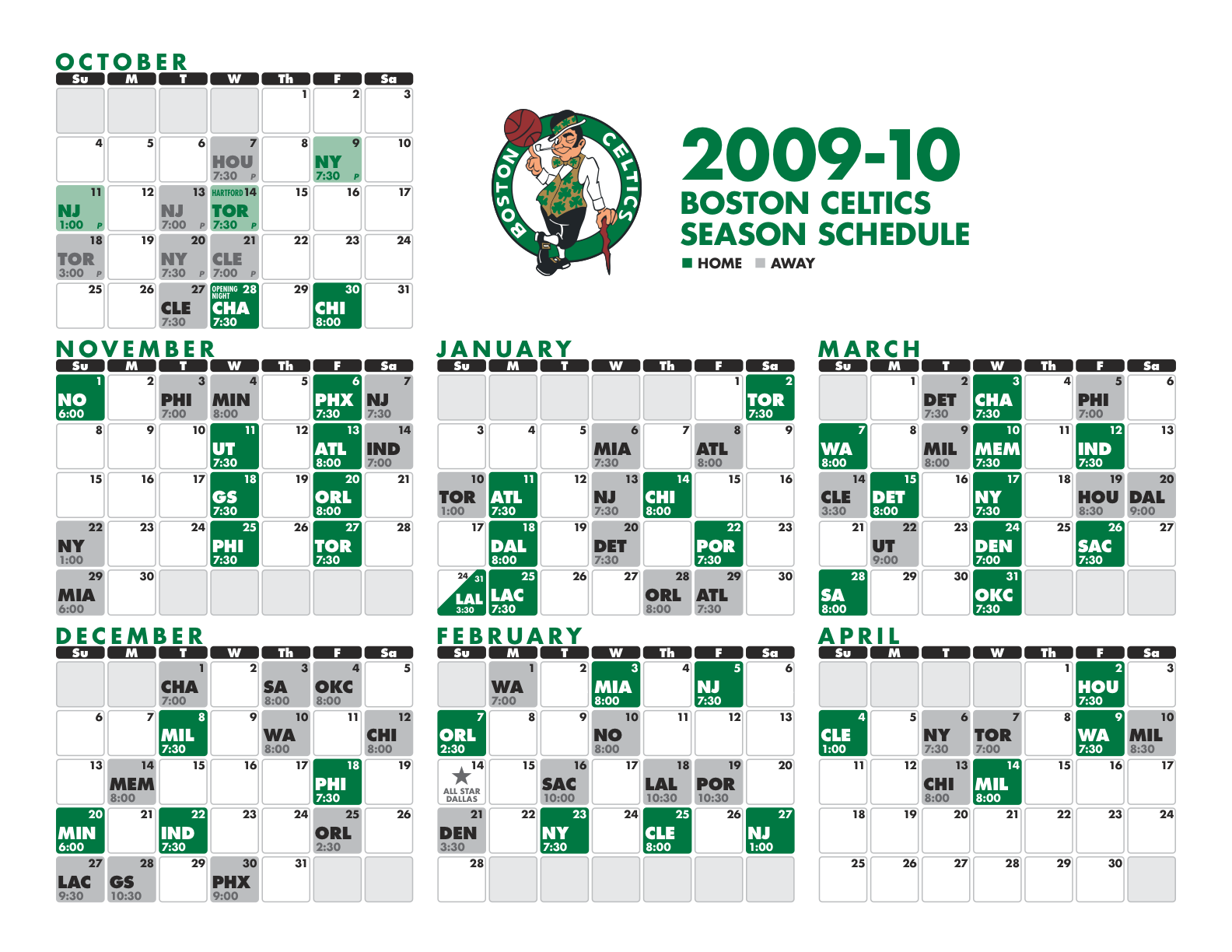 This is an image of Nerdy Celtics Schedule Printable