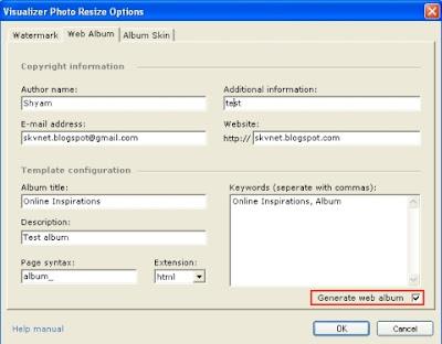 Descargar web album generator - Ubuntu.