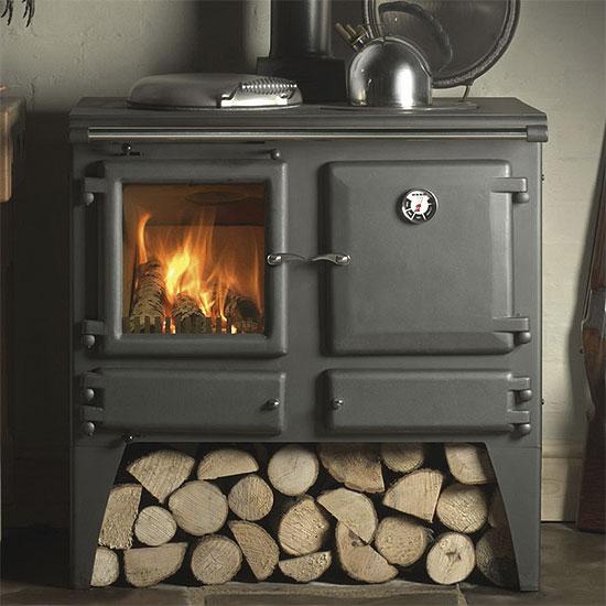 Kitchen With Wood Burner