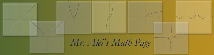 Mr. Alei's Math Blog