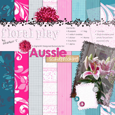 Heather Taylor, Floral Play for Aussie Scrapbooking Dot Com