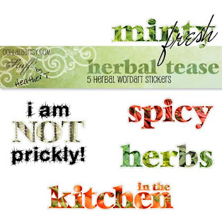 Heather Taylor, Herbal Tease Word Art