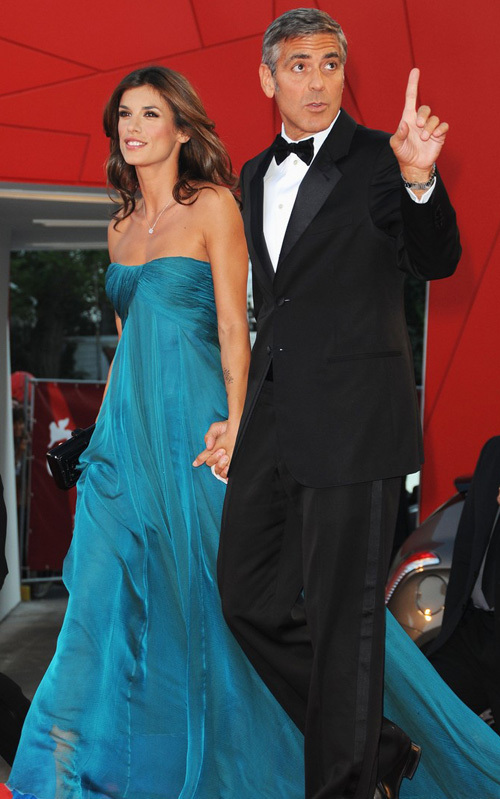 george clooney girlfriend elisabetta. George Clooney with his wife