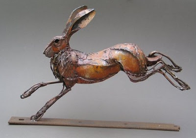 Hare running drawing - photo#27