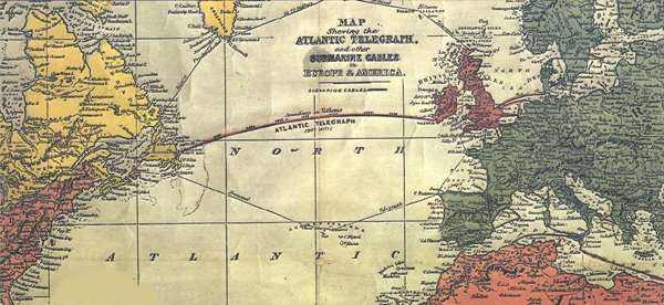 An hei waar daat definitift Resultat vun der eischter Telegraphenleitung 1866