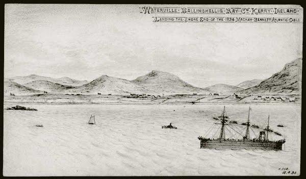 Een aalt Bild vun dem Scheff, daat am 19 Jorhonnert den transatlanteschen Kable gelued huet