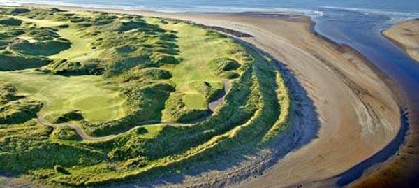 """Den Golflink riets, den """"Mouth of Inny"""" lenks, 2 Superplaatzen beieneen"""