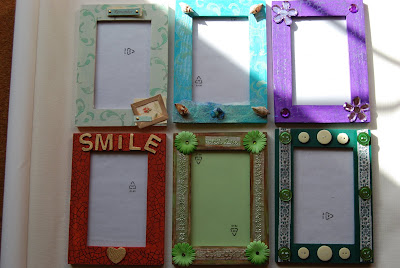 my thoughts on my life my world my art decorated frames