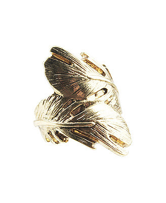 Top shop feather wrap ring @fashionpickles
