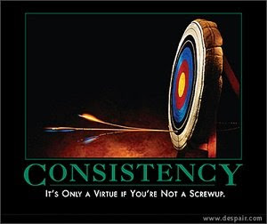 Not easy to be consistent