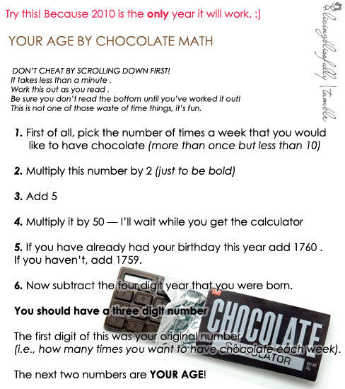 chocolate math