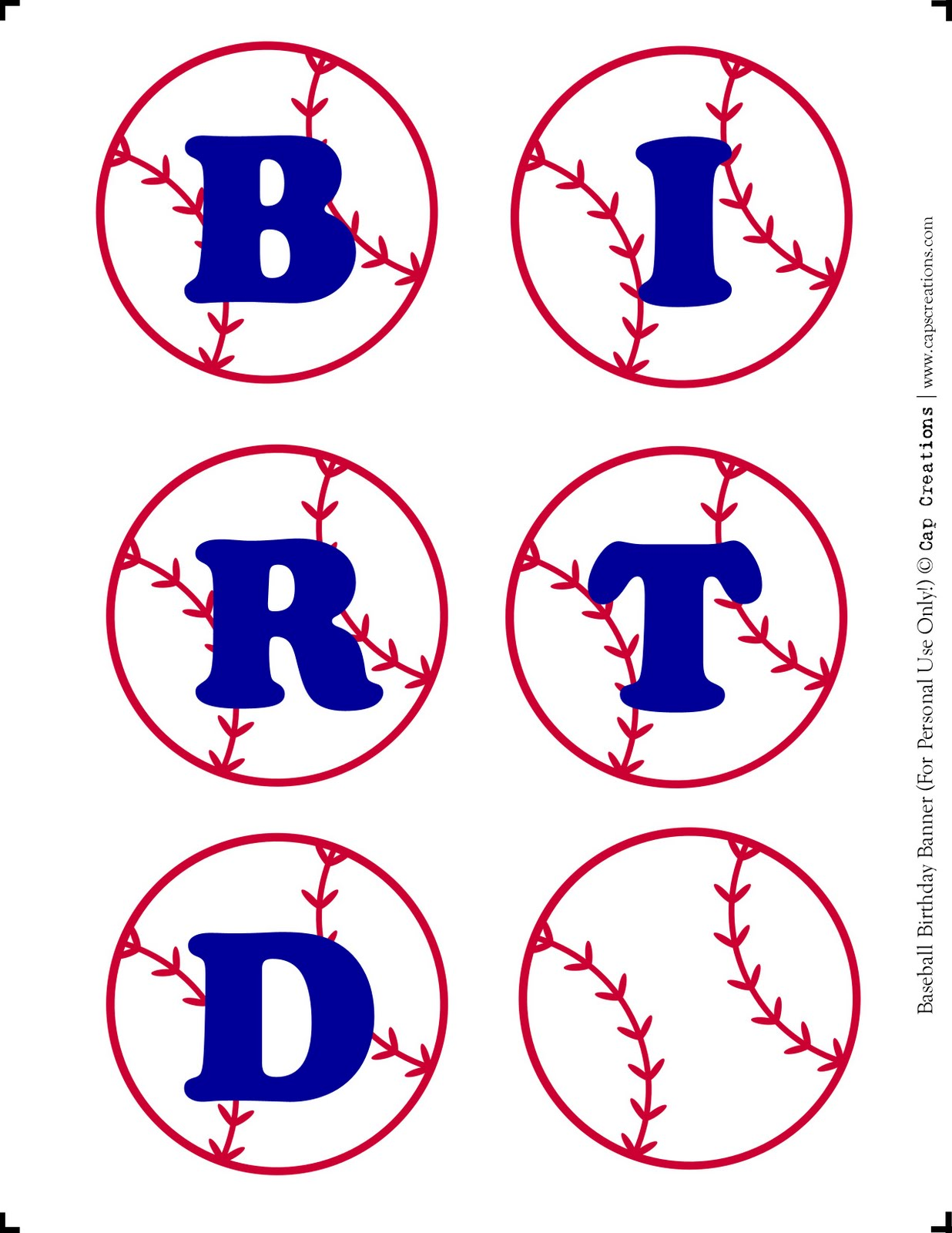 Cap Creations: DIY - Happy Birthday Baseball Banner Printable