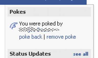 facebook poke back or hide