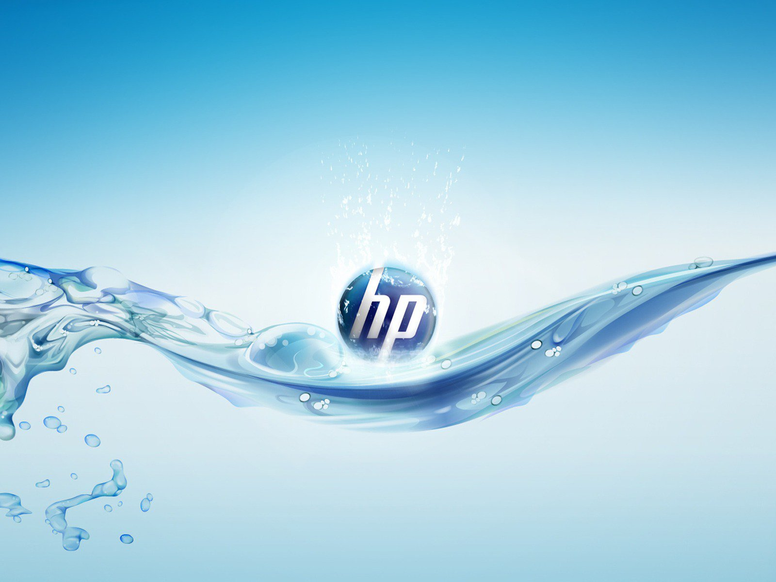 hp aqua splash logo clean blue high definition computer desktop