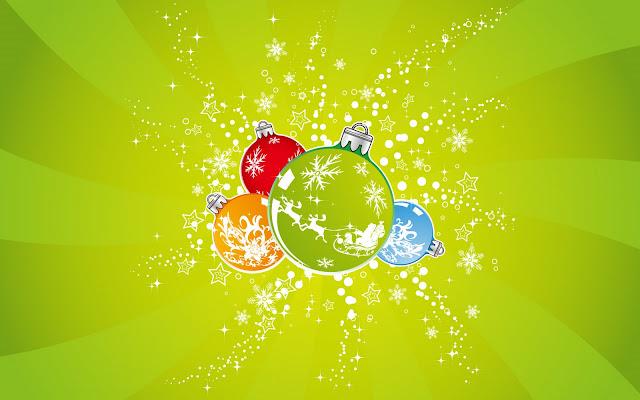 Aqua Colored Christmas Ornaments