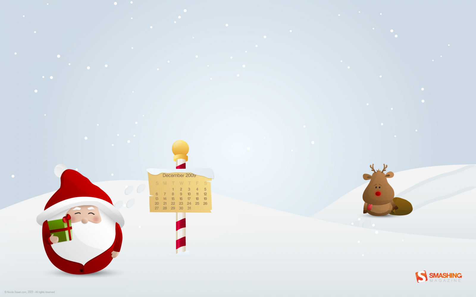 Funny Santa Claus And Rudolph HD Wallpapers
