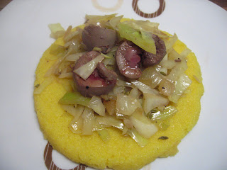 Polenta with Lamb Kidney by Ng @ Whats for Dinner?